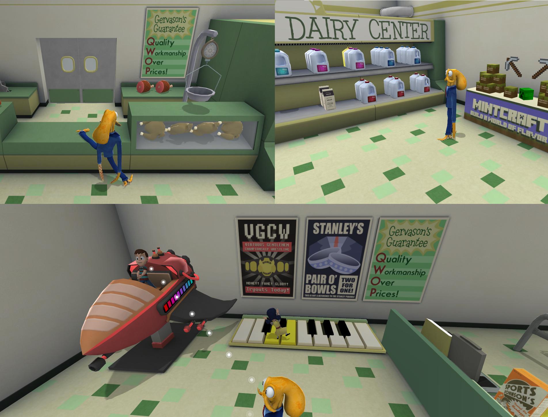 goat simulator and octodad dadliest catch the fisherprice playset